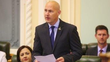 Treasurer Curtis Pitt in parliament.