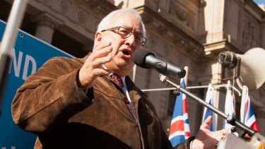 Michael Danby at a Melbourne rally in support of Israel.