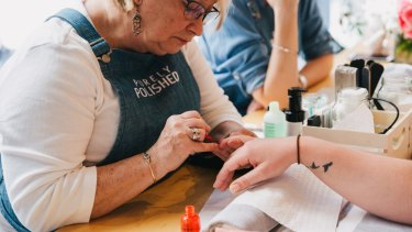 Purely Polished provides mobile manicures and pedicures in the workplace.