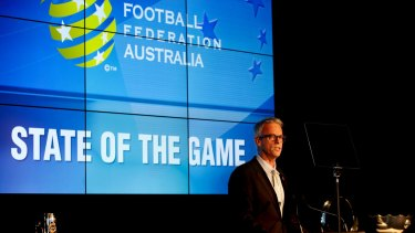 David Gallop, CEO of Football Federation Australia. The peak body has reversed its ban on alcohol sponsorship.