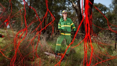 Forest firefighter Josh Hopwood is one of the hundreds of Victoria's forest firefighters who are refusing to conduct planned bushfire-prevention burns.