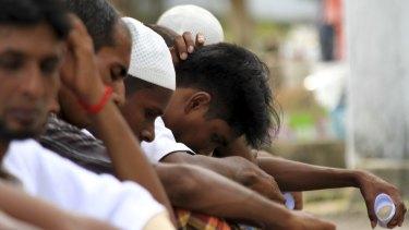 Rohingya asylum seekers in Medan, North Sumatra, last year.