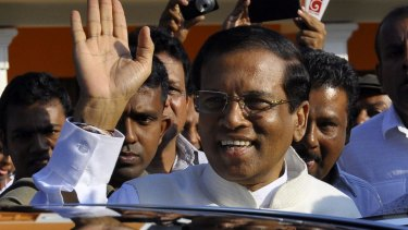 New president: Election winner Maithripala Sirisena, who has pledged to cancel a casino licence granted to James Packer.