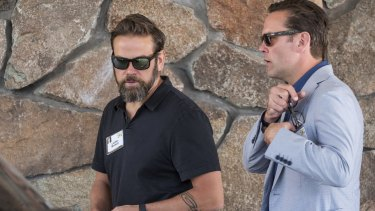 Lachlan a Murdoch and heir to the Murdoch media empire isn't shy about his '90s-inpsired tribal tat.