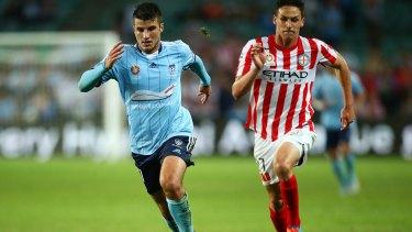 Hot streak: Terry Antonis in action for Sydney FC last month.