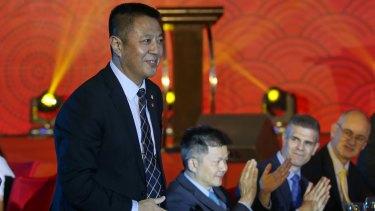 Ye Gang, vice-president of Landbridge Group, at the 2017 Australia-China Business Awards gala dinner at Beijing's JW Marriott Hotel on Thursday night.