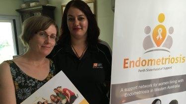 Endometriosis sufferers Joanne McCormick and Monique Alva run a support group for Perth women.