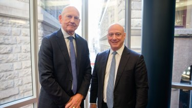 AGL CEO Andy Vesey (right) and Chairman Jerry Maycock.