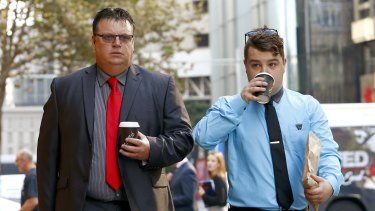 Former Office of Environment and Heritage compliance officer Robert Strange (left) at the NSW Supreme Court.
