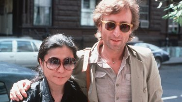 John Lennon and his wife, Yoko Ono arrive at The Hit Factory, a recording studio in New York Cityon August 22, 1980.