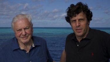 David Attenborough with Anthony Geffen.