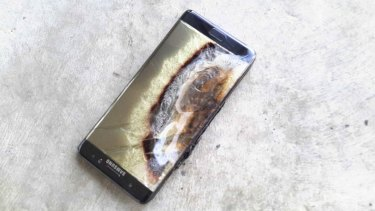 The first signs of trouble emerged online, as they're wont to do in this age of social media. Photos and videos of charred phones were posted on the web.