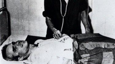 John McCain, as a prisoner of war, in a Hanoi hospital in 1967.