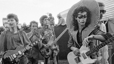 Bob Starkie with fellow Skyhooks members in the heyday of the high collar.