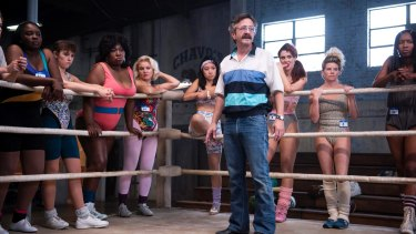 The man in the ring: Marc Maron plays the wrestling coach.