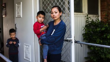 Neighbour Dieu Do, pictured with her sons Daniel and Oscar, heard screams for help on Wednesday morning.