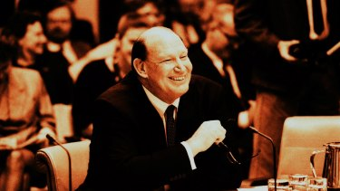 Kerry Packer during the 1991 print media inquiry.
