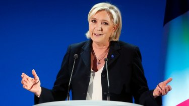 Marine Le Pen, an anti-immigrant populist, has been compared to President Trump.