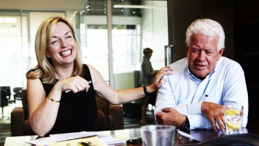 Blackmores CEO Christine Holgate with chairman Marcus Blackmore.