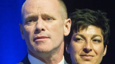 Former Queensland Premier Campbell Newman and his wife, Lisa.