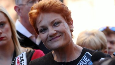 """Pauline Hanson has named Scott Morrison as her pick for future Liberal leader, saying Malcolm Turnbull """"leans too much to the Labor side""""."""