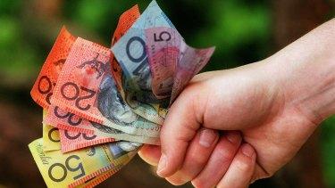 Australian Dollar Falling Money Finance Crisis Stock Photo ... | 211x375