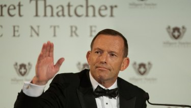Follow me: Former Australian PM Tony Abbott tells Europe to heed his advice.