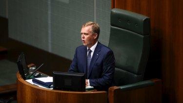 The Speaker announcing his decision.