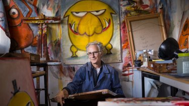 Leigh Hobbs in his studio at home in Melbourne's bayside suburb of Williamstown.