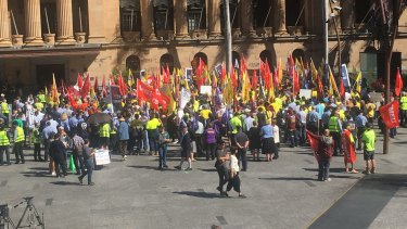 Several union-member council employees have gone on strike as part of ongoing EBA negotiations