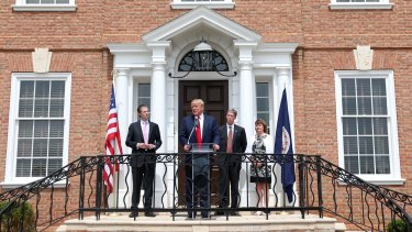 Donald Trump at the grand opening of the Albemarle Estate at Trump Winery Charlottesville on Tuesday.