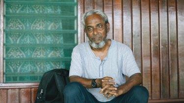 Nayser Ahmed on Manus Island.