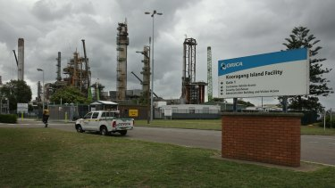 Orica Kooragang Island ammonia plant, one of the nation's largest gas users.