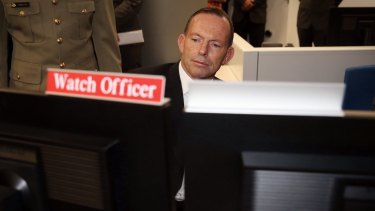 Prime Minister Tony Abbott opens the Cyber Security Centre in Canberra on Thursday.