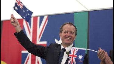 Opposition Leader Bill Shorten attending an Australia Day ceremony.