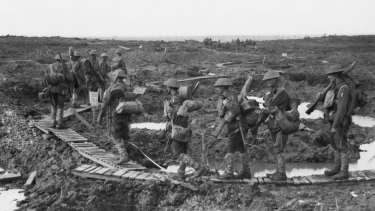 Troops of the 5th Division during the Battle of Passchendaele.