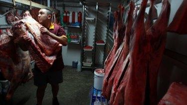 Anil Gunaydin at his Vatan Halal Butchery in Mascot,
