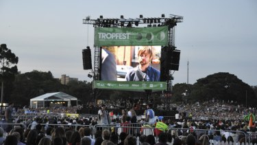Tropfest organisers are monitoring the weather, to see if the event goes ahead as planned