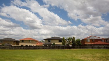 New housing estates and construction in western Sydney, where it it said there remains under supply.