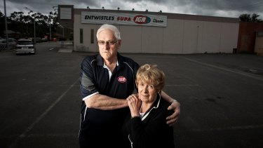 Supermarket owners Barry and Jenny Entwistle have lost almost everything, including their house, in their battle against the bigger players.