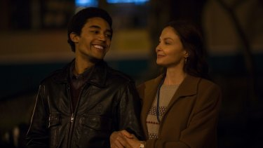 Devon Terrell as the young Barack Obama and Ashley Judd as his mother, Ann Dunham, in Barry.