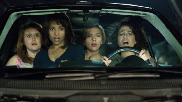 Jillian Bell, Zoe Kravitz, Scarlett Johansson and Ilana Glazer run into trouble on a night out.
