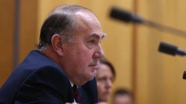 Treasury secretary John Fraser appeared before Senate estimates on Monday.