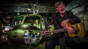 The guitar John Schumann wrote the  iconic Vietnam anthem 'I was Only 19' on, has been loaned to the Australian War Memorial for the 50th anniversary of the Battle of Long Tan.