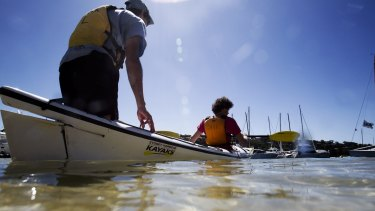 Setting off from Sydney Harbour Kayaks at the