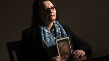 Wendy Phillips, whose sister Lynette was murdered by her abusive ex-partner, Ben Pappas.
