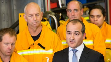 Emergency Services Minister, James Merlino has announced the new CFA board while at the Cranbourne CFA station.