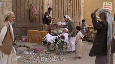Residents of the northern city of Saada, Yemen, a stronghold of the Houthi rebel group, in September.