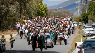 Hundreds of Karen Chetcuti's friends and family attended her funeral in February.