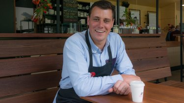 James Murphy of Kerekere cafes, which donates $500 every month to charity.